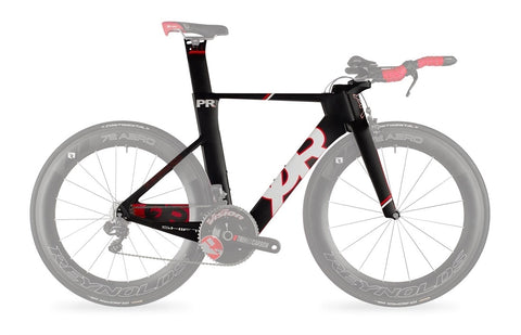 2015 Quintana Roo PRsix Frameset W/ Custom Build Options (Black/Red)  - 48cm (Certified Pre-Owned)