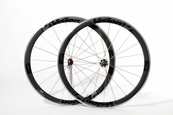2017 Vision TRIMAX T42 Clincher Wheel Set - Matte Black - New - Full Warranty - My Bike Shop  - 1