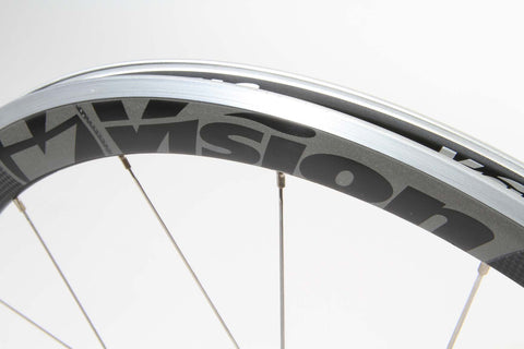 2017 Vision TRIMAX T42 Clincher Wheel Set - Matte Black - New - Full Warranty - My Bike Shop  - 4
