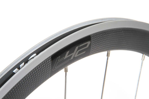 2017 Vision TRIMAX T42 Clincher Wheel Set - Matte Black - New - Full Warranty - My Bike Shop  - 9