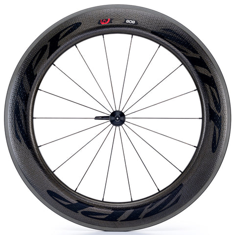 2017 Zipp 808 Firecrest Carbon Clincher Wheel Set - Black Decals - FREE TIRES AND TUBES! - My Bike Shop  - 3