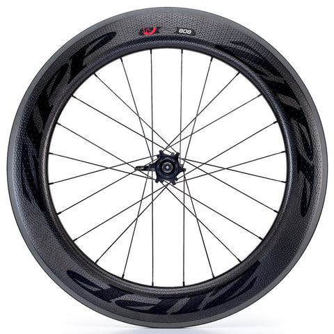 2017 Zipp 808 Firecrest Carbon Clincher Wheel Set - Black Decals - FREE TIRES AND TUBES! - My Bike Shop  - 2