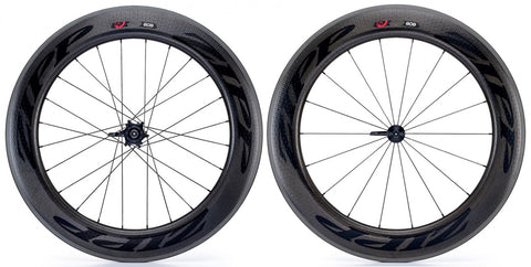2017 Zipp 808 Firecrest Carbon Clincher Wheel Set - Black Decals - FREE TIRES AND TUBES! - My Bike Shop  - 1