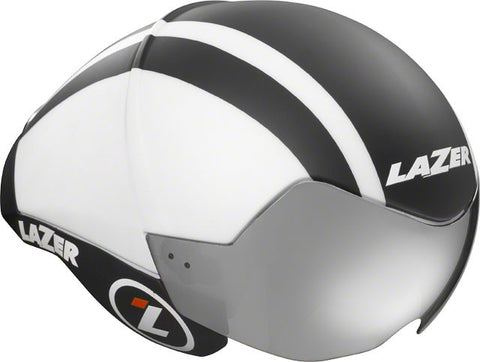 Lazer Wasp AIR Aero Helmet: Black Top with White Sides MD/LG