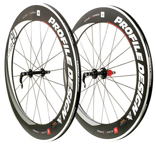 2016 Profile Design Altair 80 Semi-Carbon Clincher Wheel Set 11-Speed - New - Full Warranty