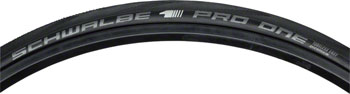 Schwalbe Pro One Tubeless Road Tire - 700x23 Folding Bead Black with One Star Compound and MicroSkin Casing