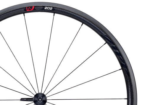 2015 Zipp 202 Firecrest Carbon Clincher Wheel Set - Black Decals - Pre-Owned