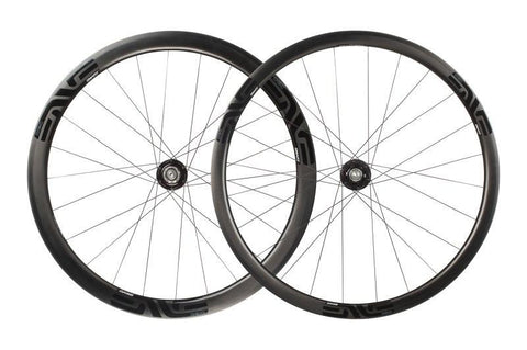 2017 ENVE SES 3.4 Clincher Disc Road Wheel Set - Centerlock - Gen 1 (Black Decals)