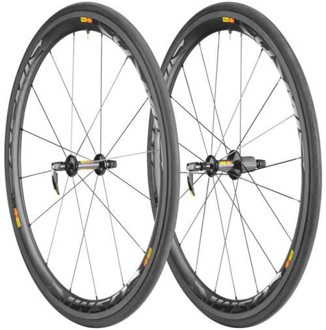 2015 Mavic Cosmic Carbone 40 Tubular Wheel Set - My Bike Shop