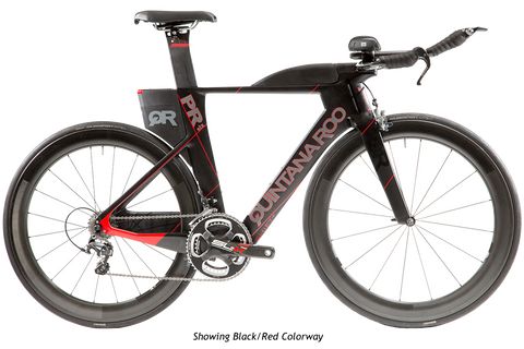 2017 Quintana Roo PRsix Ultegra 6800 (Black/Red) -54cm - New - Full Warranty