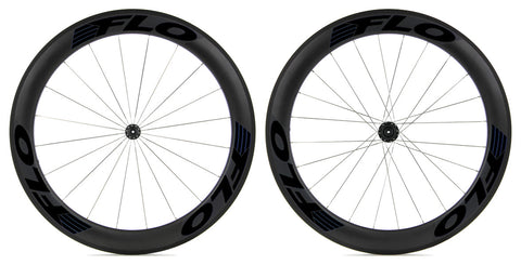 2017 FLO 60 Alloy Carbon Clincher Wheelset - Stealth Black Decals - Pre-Owned
