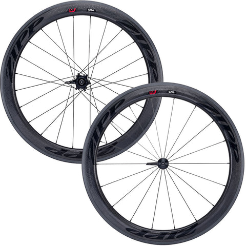 2017 Zipp 404 Firecrest Carbon Clincher Wheel Set - Black Decals - FREE TIRES AND TUBES! - My Bike Shop