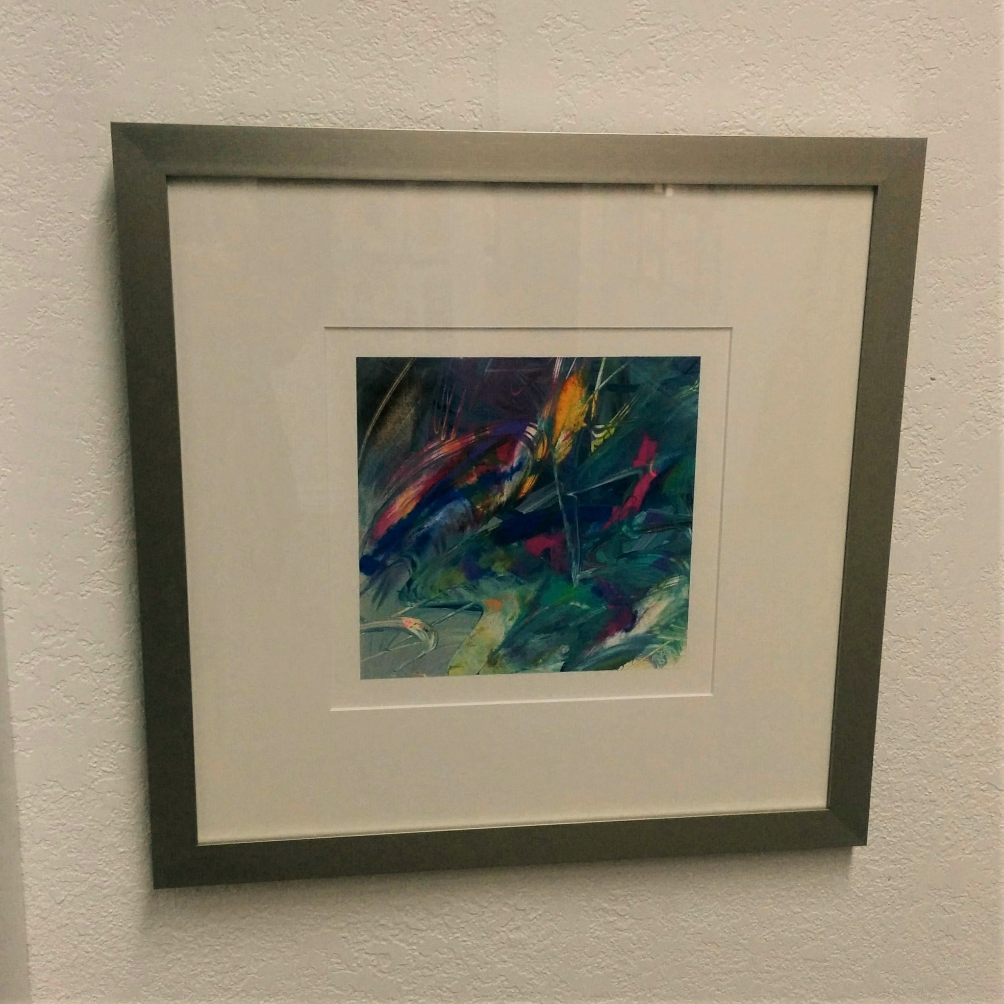 Abstract Original Framed - TROPICAL BLUES