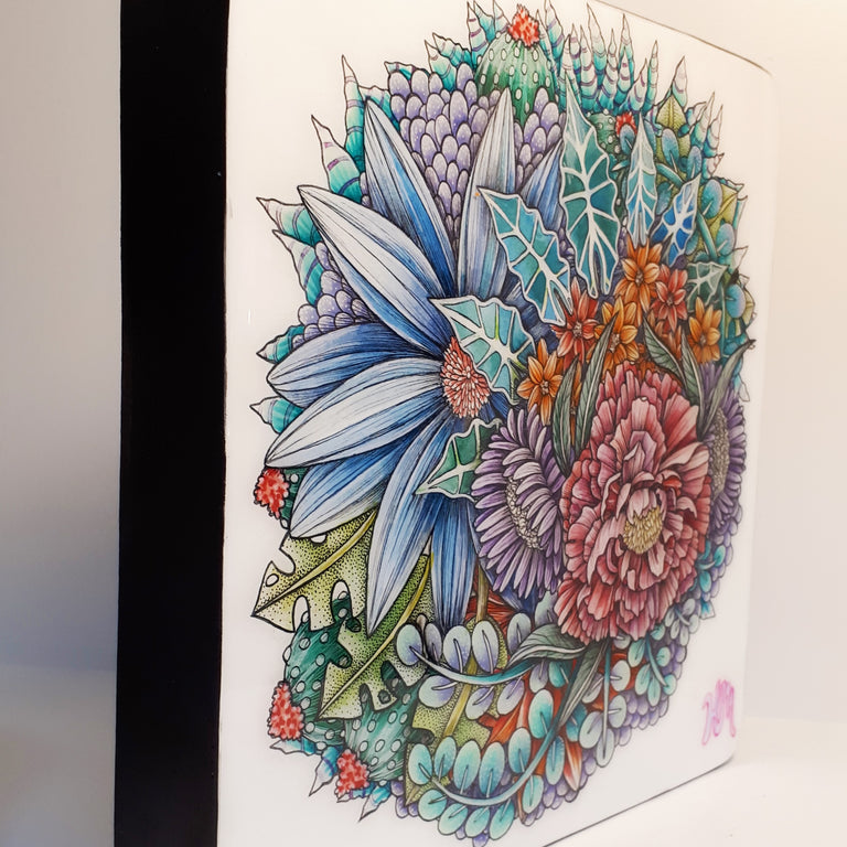 Original Ink, Pencil and Watercolour Work - FLORAL (large)