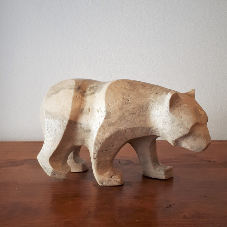 Marble Bear Sculpture - FORAGE