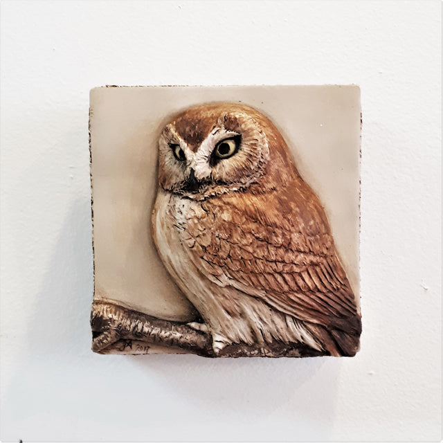 Limited Edition OWL - Sculpted Cast Handpainted Hydrostone