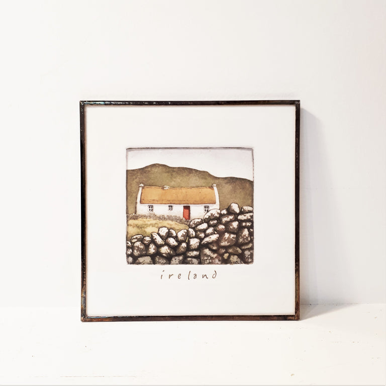 Framed Irish Print - IRELAND cottage