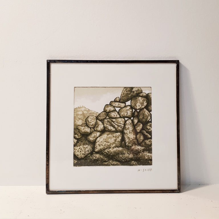 Framed Print - HILL OF THE STANDING STONES