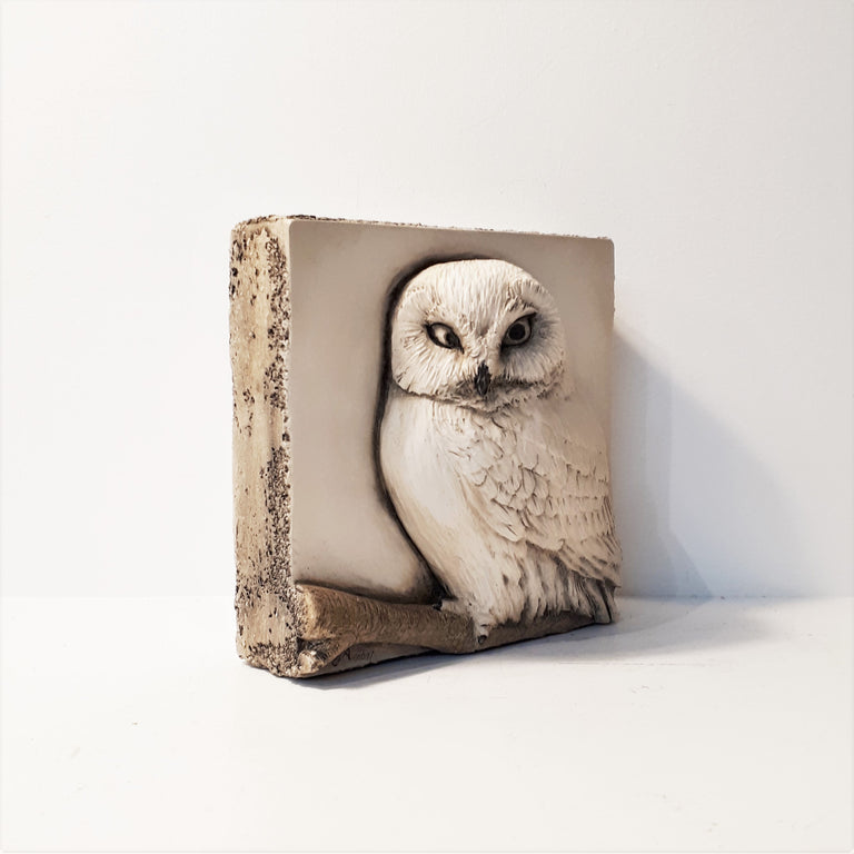 Limited Edition OWL (4x4) Black & White - Sculpted Cast Hydrostone