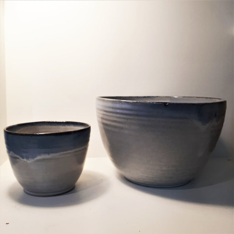 Pottery Mixing Bowl - Small, Beach House