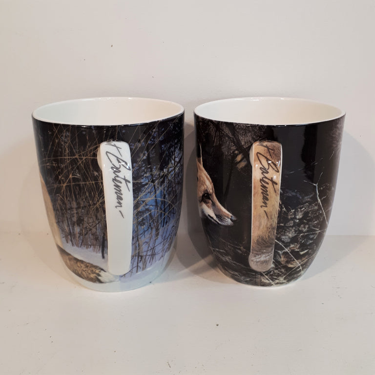 Fine Bone China Mug Set of Two - Foxes, Robert Bateman