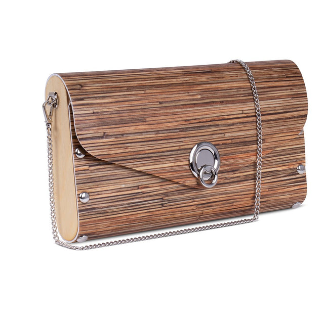 Large Clutch/Handbag - Bamboo-look