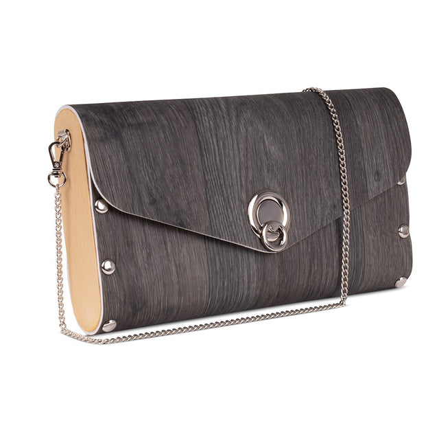 Large Clutch/Handbag - Charcoal Plank
