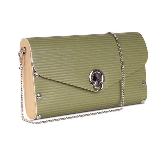 Large Clutch/Handbag - Chartreuse Ripple
