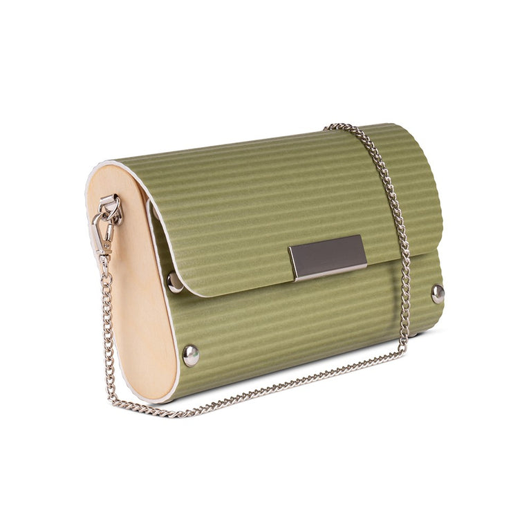 Small Clutch - Chartreuse Ripple