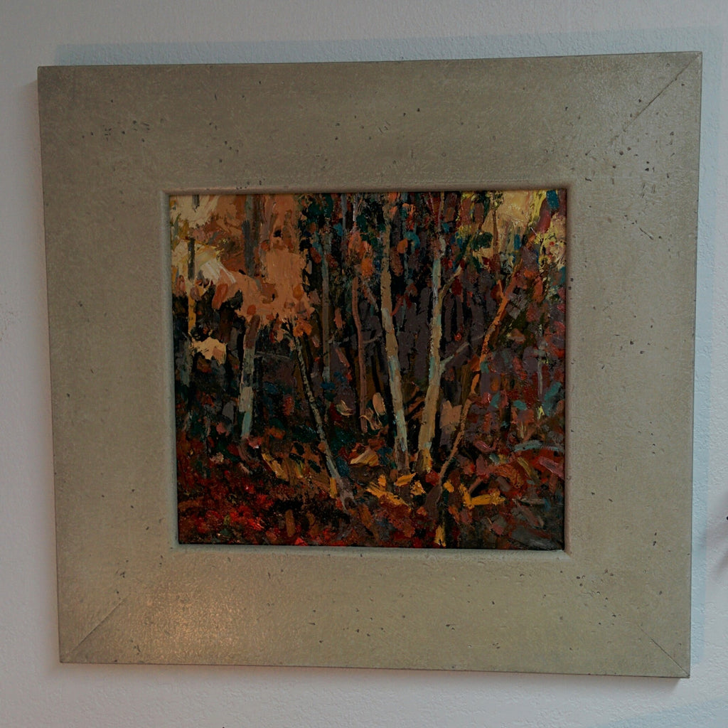 Original Painting, Acrylic on Board - BIRCHES, AFTER THOMSON
