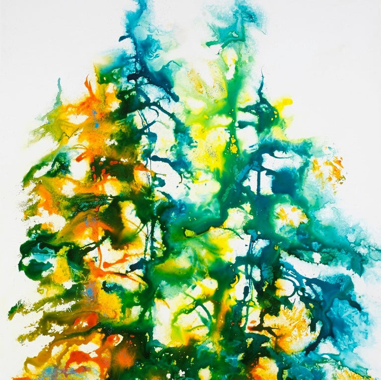 Framed Original Painting - A TANGO OF TREES