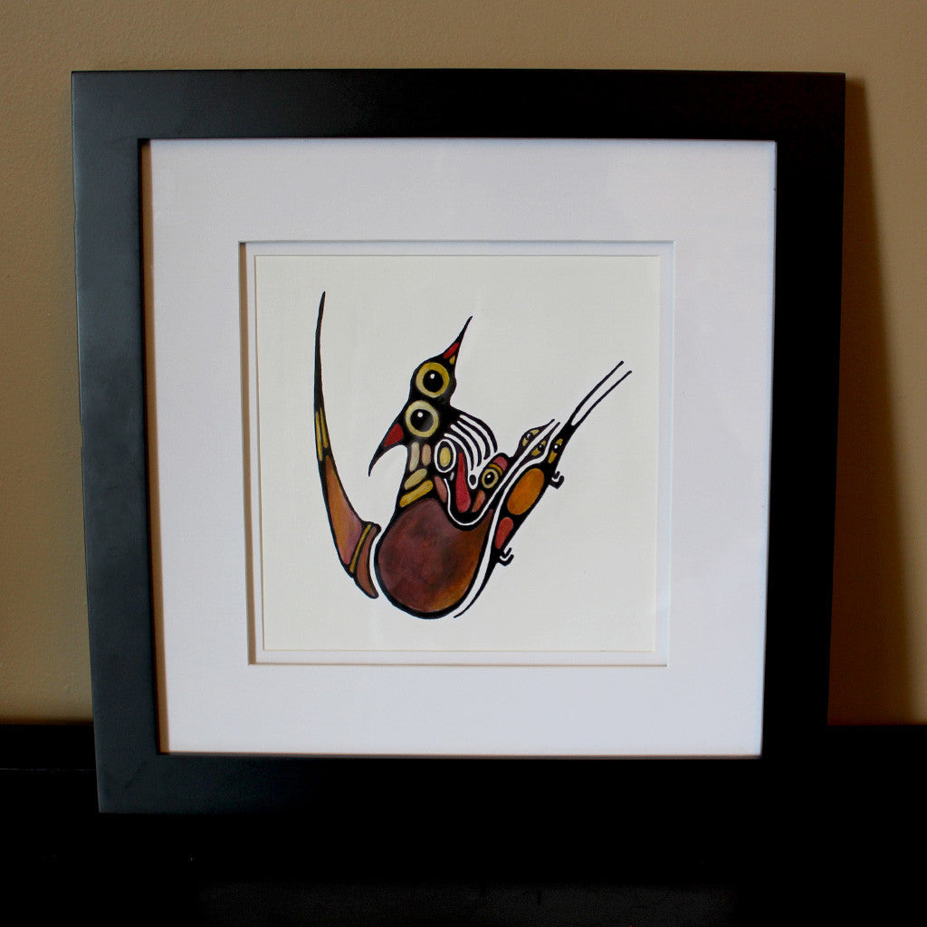Framed Original Painting - Acceptance - I: Acrylic & India Ink on Paper