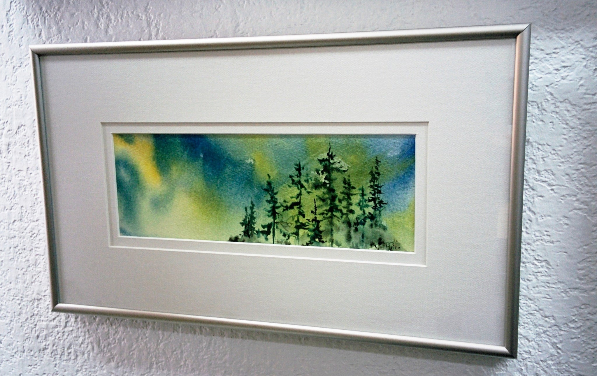 Framed Original Watercolour - AURORA'S GLOW
