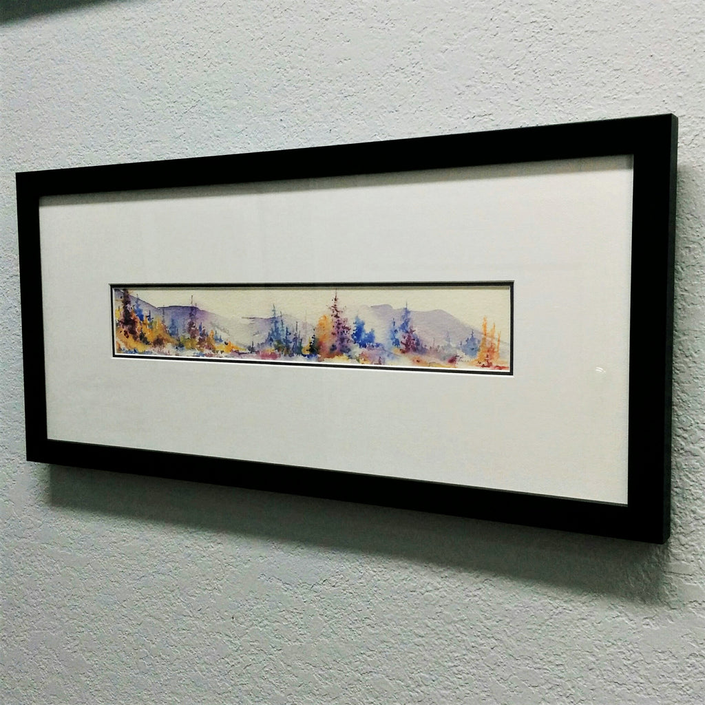 Framed Original Watercolour - AUTUMN HILLS