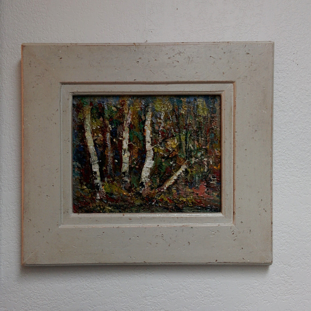 Original Painting, Acrylic on Board - BIRCH GROVE
