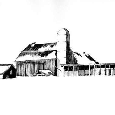 Open Edition Matted Print - CORN CRIBS