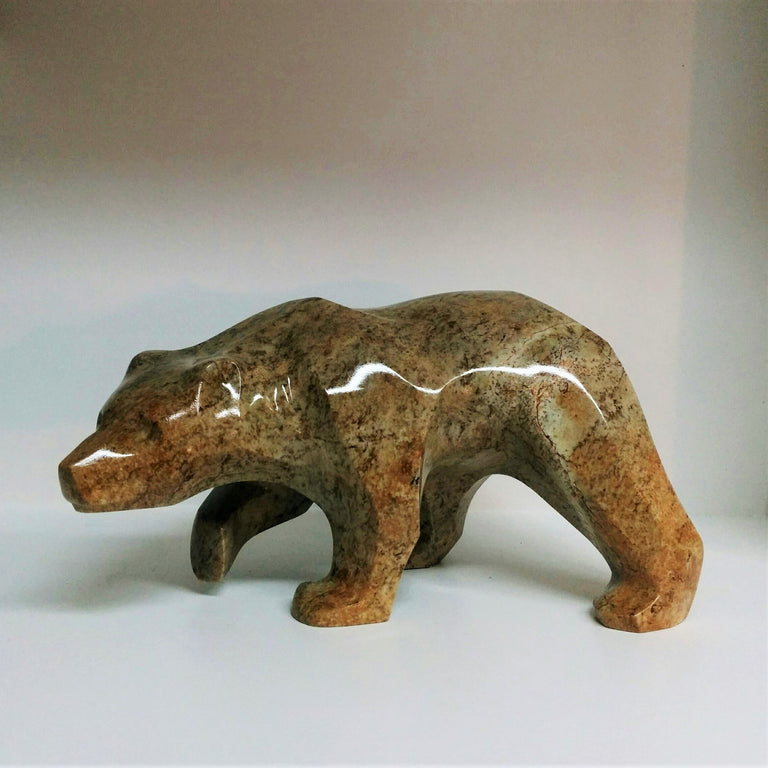 Soapstone carving of bear by Canadian Artist