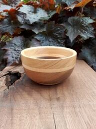 Tiny Turned Bowl - Black Walnut and Maple