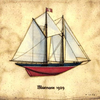 Framed Print - Bluenose Sailboat 1929