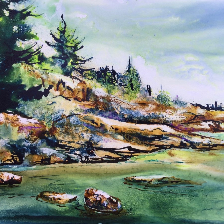 Original Painting of Canadian Shield by Canadian Artist Tiina Price