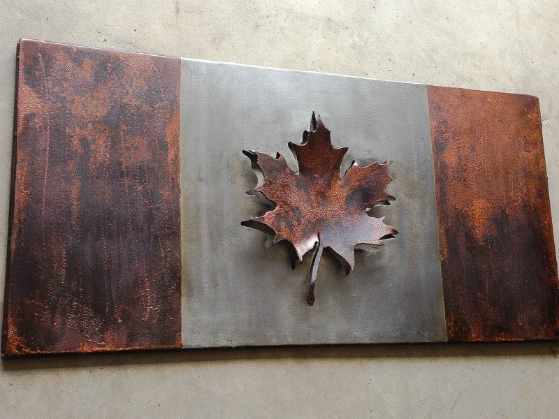 "Steel-work Canadian 150th Flag, ""Oh, Canada"""