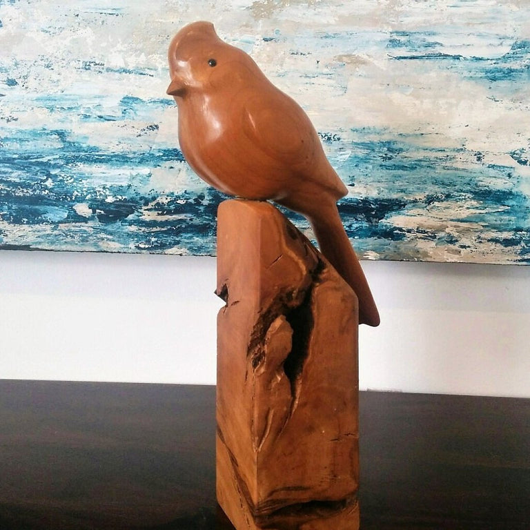Hand Carved Cherry Cardinal