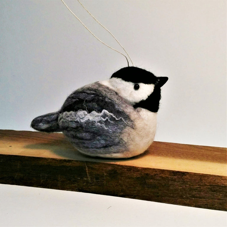"Wool Sculpture - Chickadee (4"")"