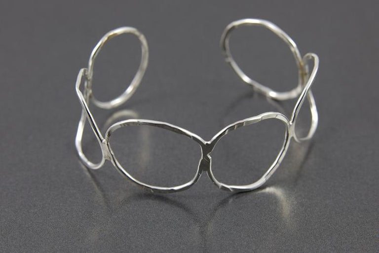 Sterling Silver Circle Cuff
