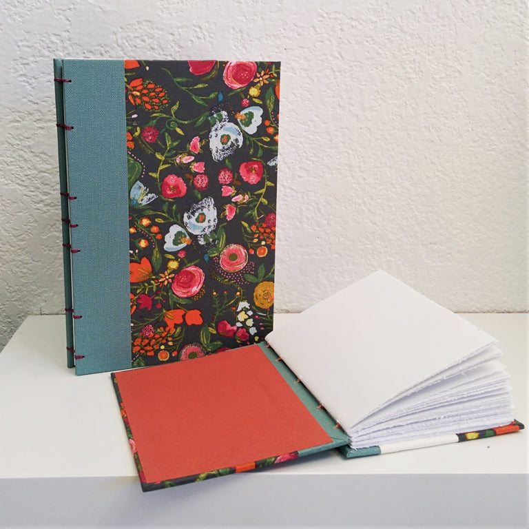 Handmade Floral Journal by Canadian Artisan