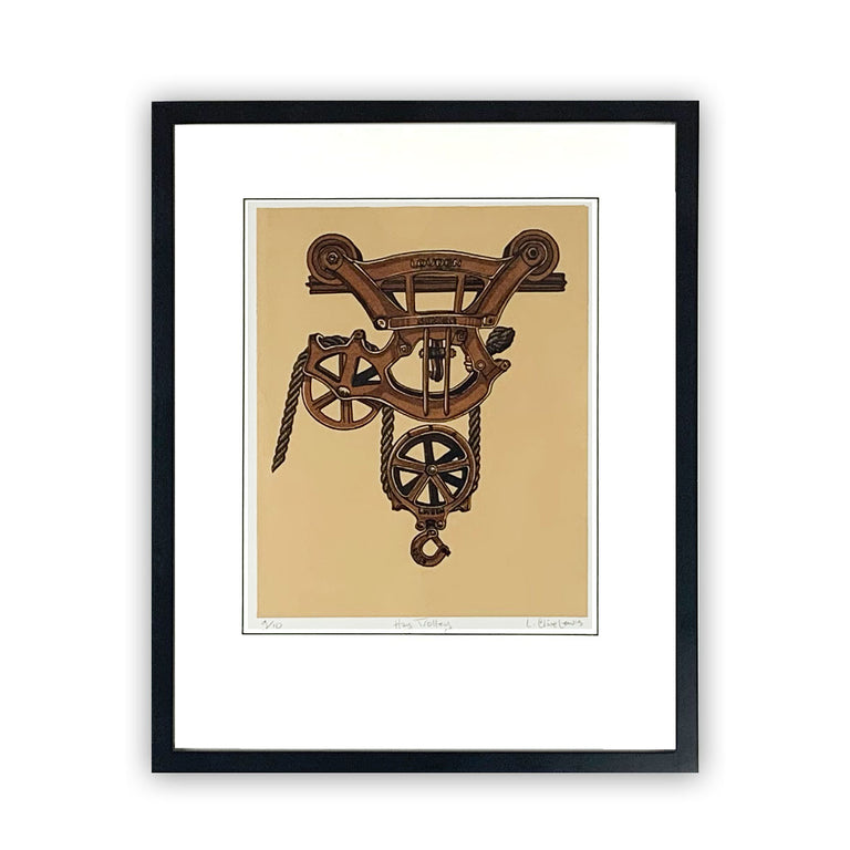 Framed Limited Edition Print - Hay Trolley