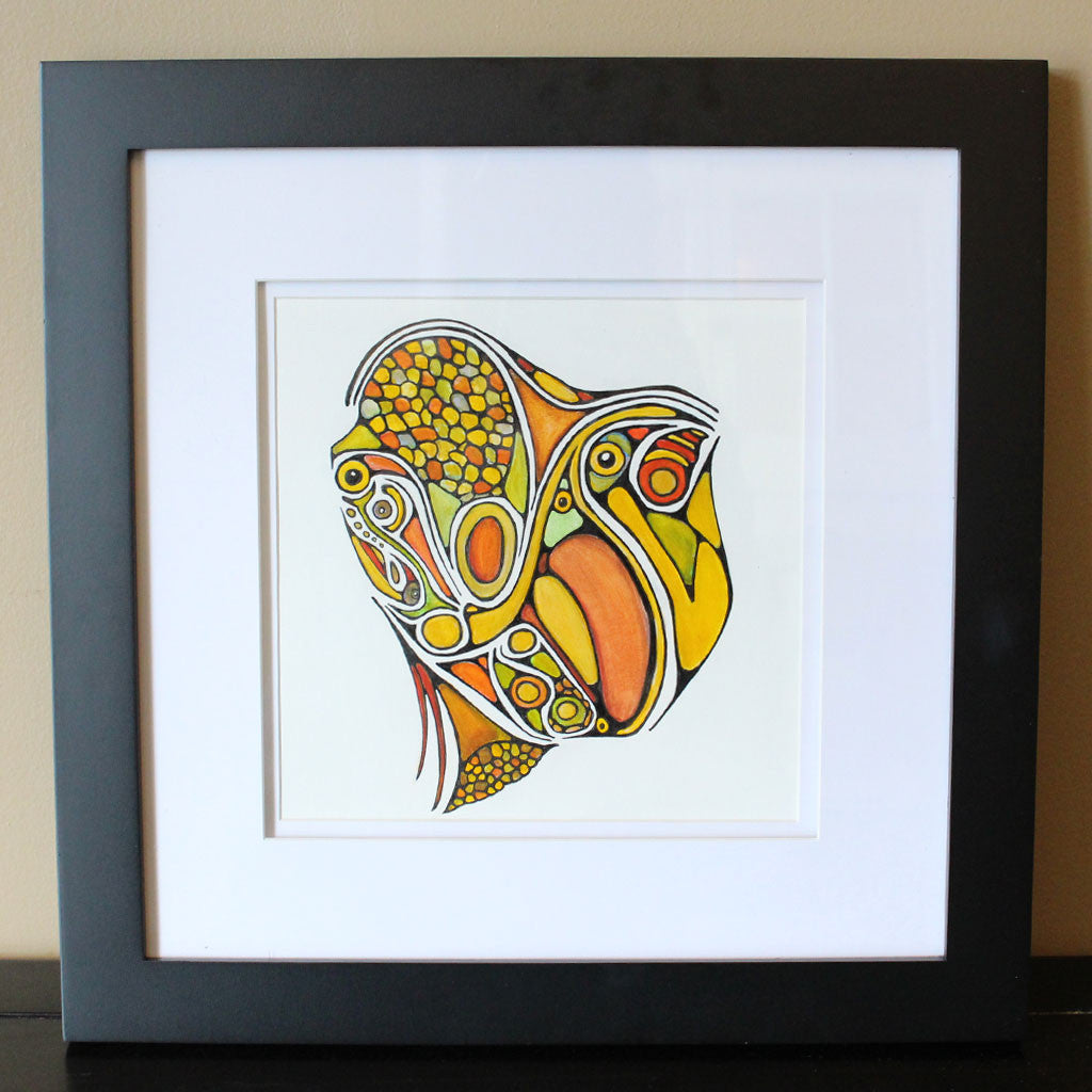 Framed Original Painting: Cornucopia