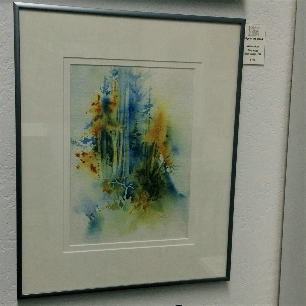 Original Watercolour by Canadian Artist Tiina Price - EDGE OF THE WOOD