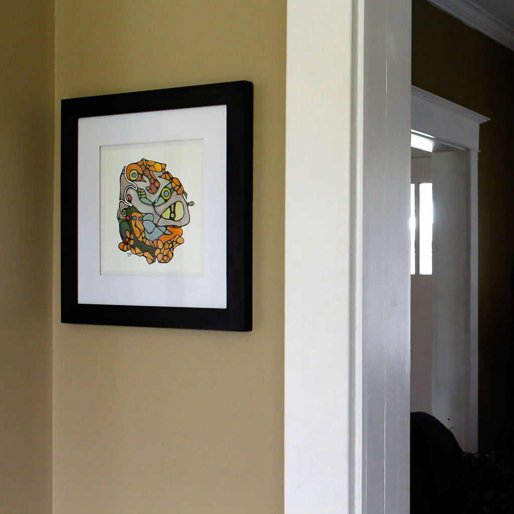 Framed Original Painting: Embedded
