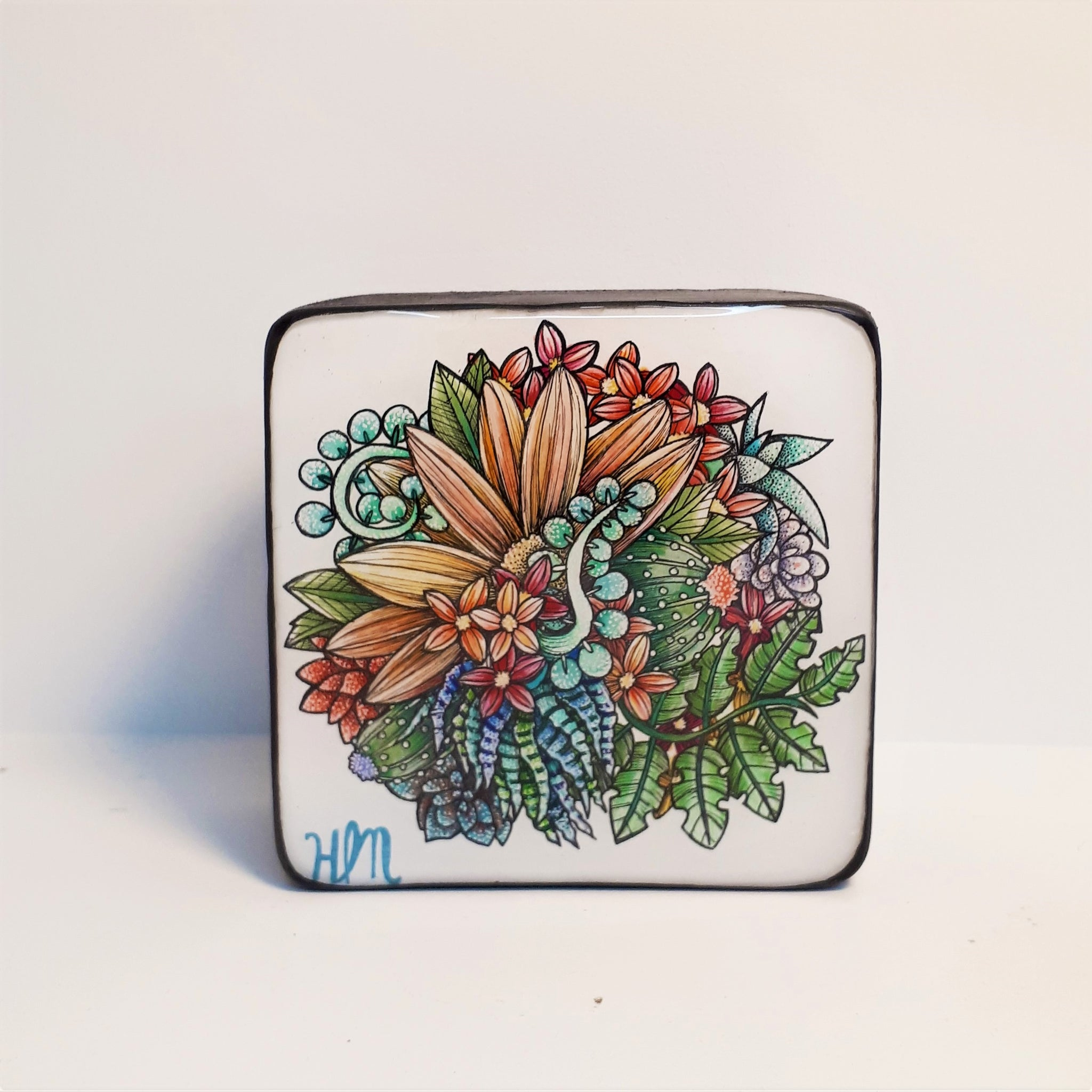 Original Small Floral work by Canadian Artist Hanna Mark